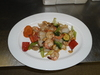 Cashew Nut Chicken and Vegetables / Poulet aux Noix d'Acajou et Legumes